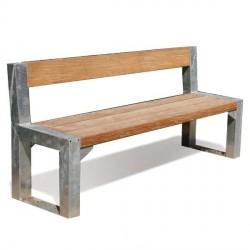 Kovová lavička Fabia II
