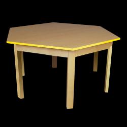 Dětský stoleček MATEO, šestiúhelník, barevná hrana