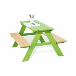 Zahradní sestava pro děti bez opěrky SENZA zelená, pro 4 děti