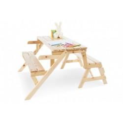 Zahradní Lavice pro děti 2v1 - lavička + lavičky se stolkem