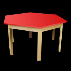 Dětský stoleček MATEO, šestiúhelník, barevná deska