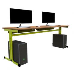Školní PC stůl - YGNÁC E2S - výškově nastavytelný