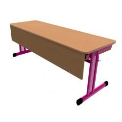 Školní žákovská lavice PERFO třímístná s clonou