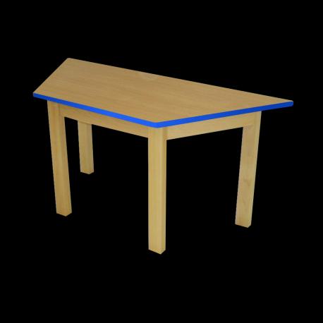Dětský stoleček MATEO, lichoběžník, barevná hrana