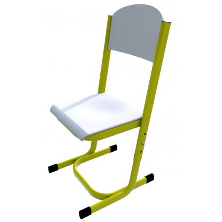 Školní žákovská židle YGNÁC, stavitelná, CPL bílá
