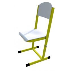 Školní žákovská židle HUBERT, stavitelná, CPL bílá