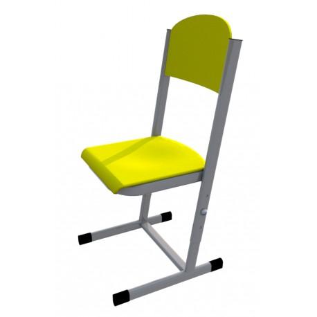 Školní žákovská židle HUBERT, stavitelná, CPL žlutá
