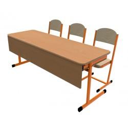 Školní žákovská sestava OTTO třímístná c clonou: lavice + 3 židle