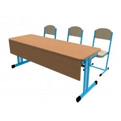 Školní žákovská sestava PERFO třímístná s clonou