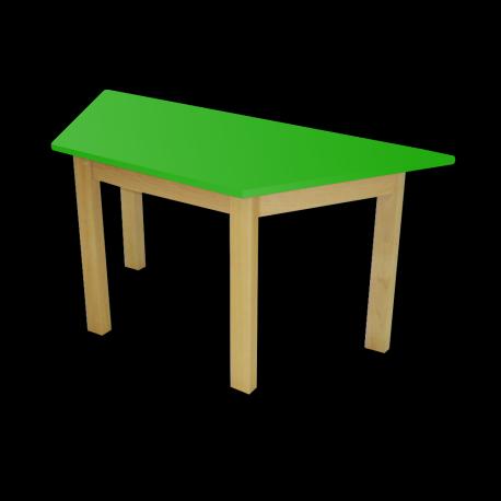 Dětský stoleček MATEO, lichoběžník, barevná deska