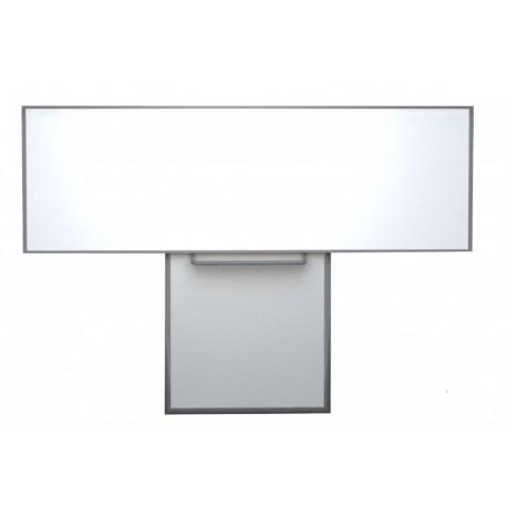 Keramická tabule 300x120 cm na pojezdu, bílá