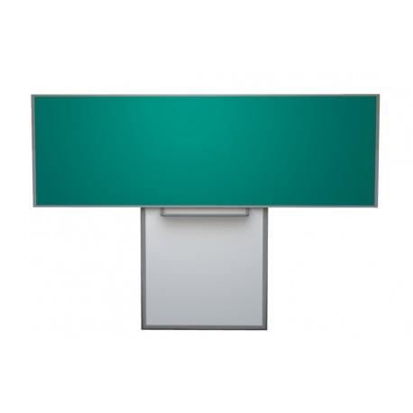 Keramická tabule 300x120 cm na pojezdu, zelená