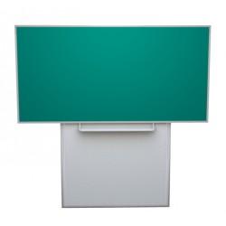 Tabule 200x120 cm na pojezdu, zelená HPL
