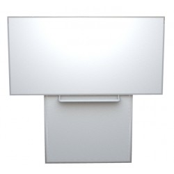 Keramická tabule 200x120 cm na pojezdu, bílá