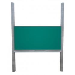 Školní tabule na pylonech bez křídel, zelená