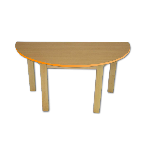 Dětský stoleček MATEO, půlkruh, barevná hrana