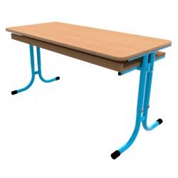 Školní žákovská lavice GÁBINA dvoumístná, stavitelná, trubková konstrukce