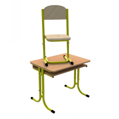 Školní žákovská sestava GÁBINA jednomístná, stavitelná, trubková konstrukce