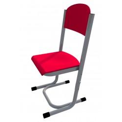 Židle GÁBINA, stavitelná, CPL červená, trubková konstrukce