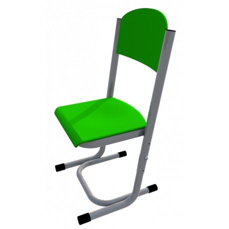 Židle GÁBINA, stavitelná, CPL zelená, trubková konstrukce