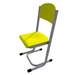Židle GÁBINA, stavitelná, CPL žlutá, trubková konstrukce