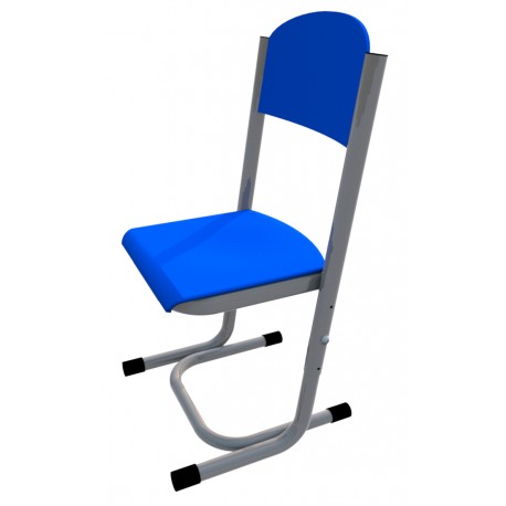 Židle GÁBINA, stavitelná, CPL modrá, trubková konstrukce