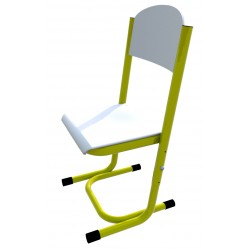 Židle GÁBINA, stavitelná, CPL bílá, trubková konstrukce