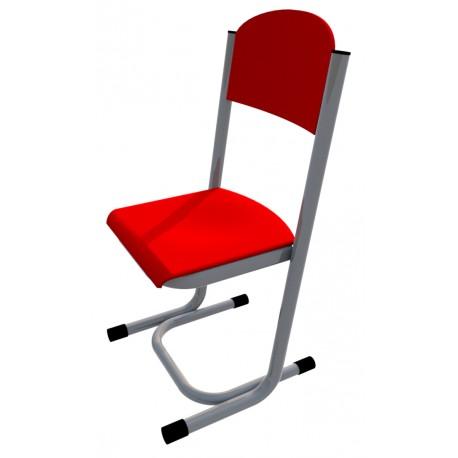 Židle GÁBINA, CPL červená, trubková konstrukce