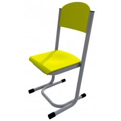 Židle GÁBINA, CPL žlutá, trubková konstrukce
