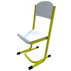 Židle GÁBINA, CPL bílá, trubková konstrukce
