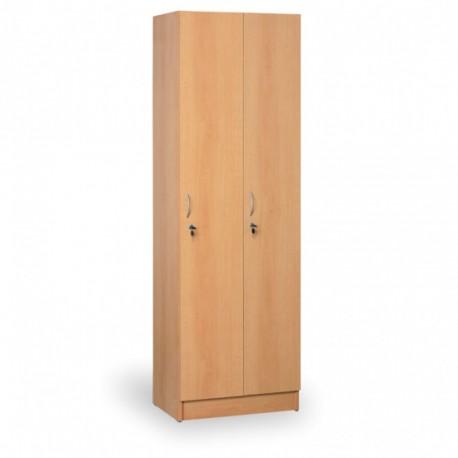 Šatní skříň, AGÁTA, 2 oddíly, buk