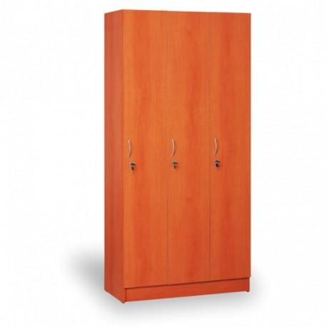 Šatní skříň, AGÁTA, 3 oddíly, třešeň