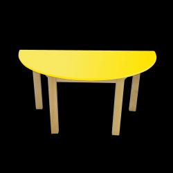 Dětský stoleček MATEO, půlkruh, barevná deska