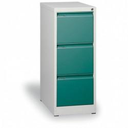 Kartotéka A4, kovová, 3 zásuvky JOHANA, zelená