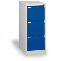 Kartotéka A4, kovová, 3 zásuvky JOHANA, modrá
