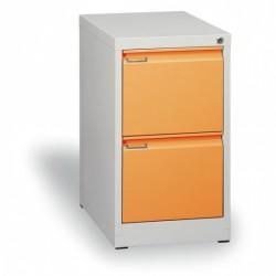 Kartotéka A4, kovová, 2 zásuvky JOHANA, oranžová