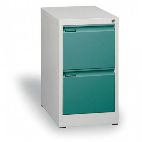 Kartotéka A4, kovová, 2 zásuvky JOHANA, zelená