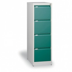 Kartotéka A4, kovová, 4 zásuvky JOHANA, zelená