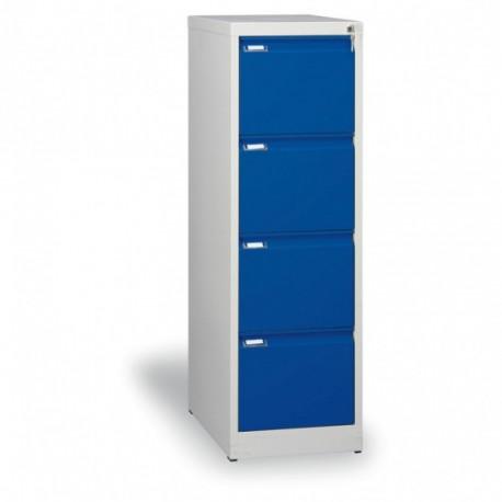 Kartotéka A4, kovová, 4 zásuvky JOHANA, modrá