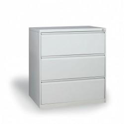 Dvouřadá kartotéka A4, kovová, 3 zásuvky JOLANA, šedá