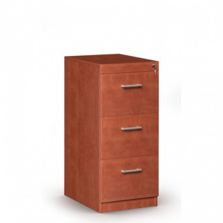 Dřevěná kartotéka, 3 zásuvky JANIČKA, kalvados