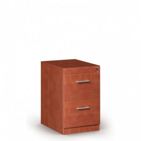 Dřevěná kartotéka, 2 zásuvky JANIČKA, kalvados