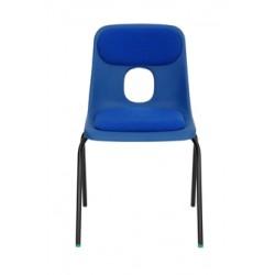 Žákovská židle STELA, čalouněný sedák a opěrák