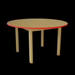 Dětský stoleček MATEO, kruh, barevná hrana