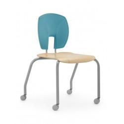 Židle PAVOUČEK, stohovatelná, na kolečkách