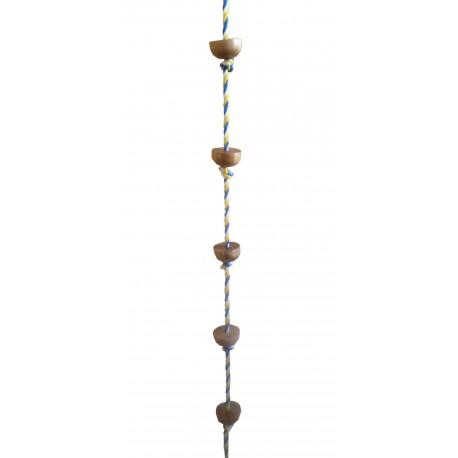 Šplhací lano s podpěrami