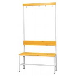 Šatní lavice s věšákem, jednostranná