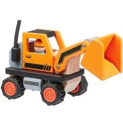 Dřevěný buldozer ROBO, série STAVEBNÍ STROJE
