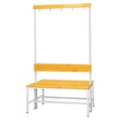 Šatní lavice s věšákem, oboustranná