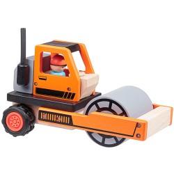 Dřevěný silniční válec BAX, série STAVEBNÍ STROJE